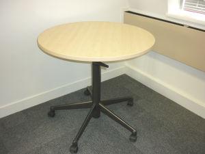 800mm diameter Steelcase mobile maple tables