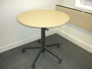 Steelcase mobile maple tables