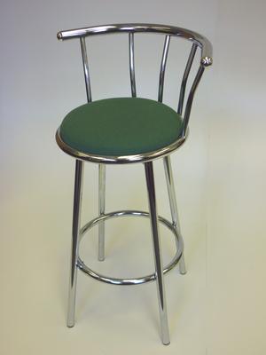Green chrome stools