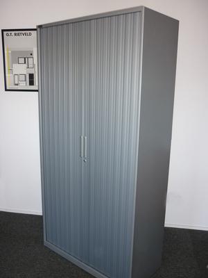 Silver 1970mm high Triumph tambour cupboard