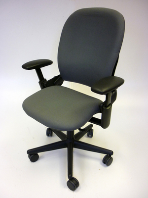 Grey Steelcase Leap task chairs