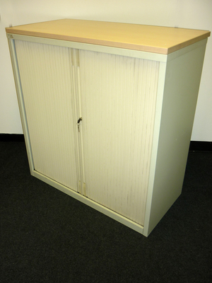 Triumph 1050mm high creammaple tambour cupboard