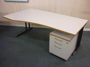 Geiska 1800mm wave desks