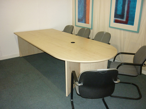 'D' end boardroom table