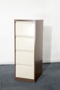 Grey Bisley 4 drawer filing cabinets