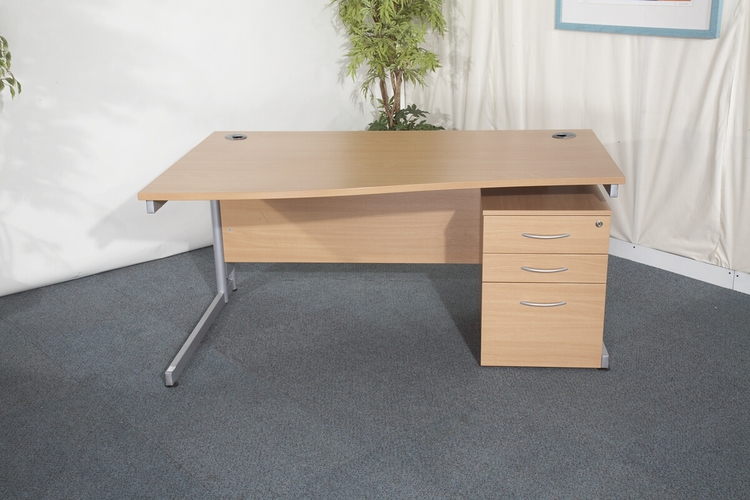 1 x Beech wave desks WAS £160, NOW ONLY
