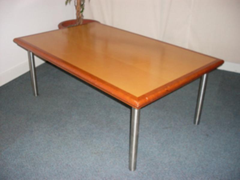 Ash veneer coffee table