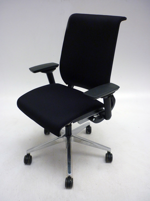 Steelcase Think black fabric task chair (CE)