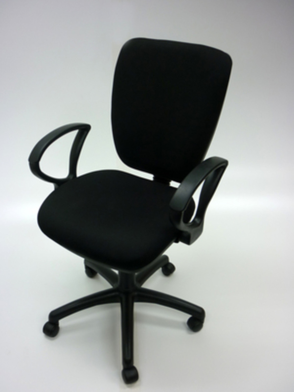 Square back black 2 lever operator chairs
