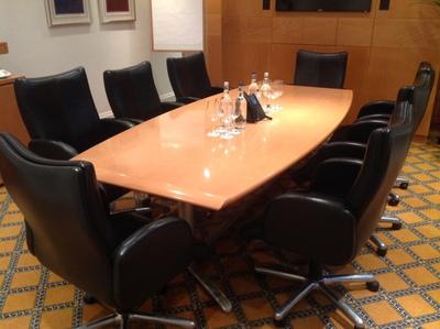 2750x1200mm Bene beech veneer boardroom table (CE)