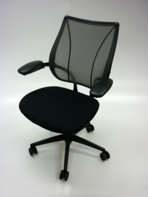 Black fabricmesh Humanscale Liberty task chairs