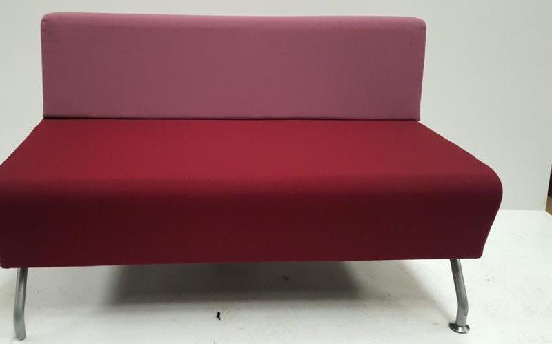 Herman Miller purplepink sofa
