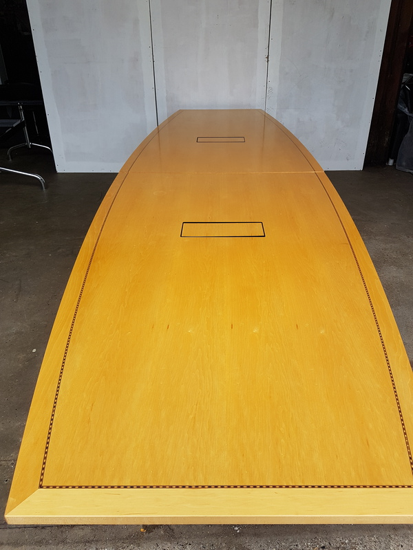 3600 x 1350mm Tula boat shaped Boardroom table (CE)