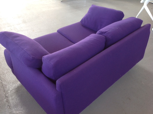 Purple two seater sofa  (CE)