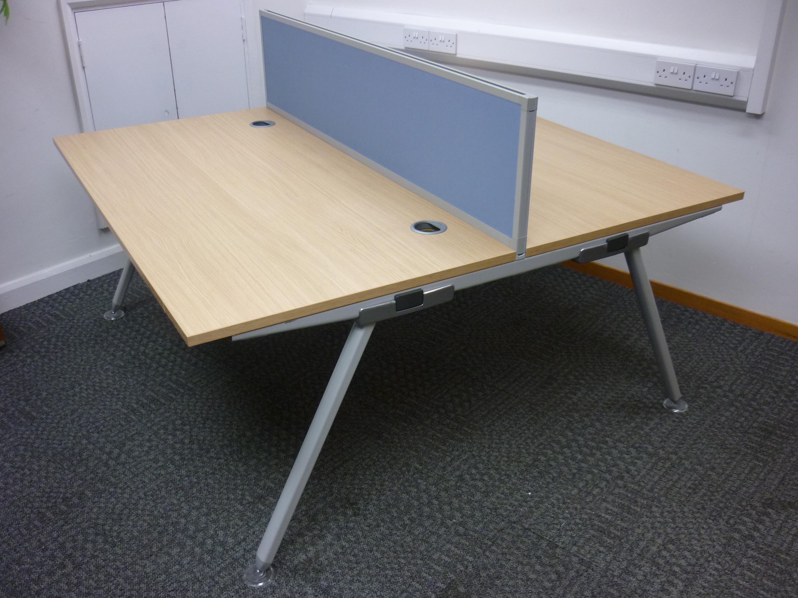 1600w x 800d mm Oak Senator Core bench desks (CE) price per user