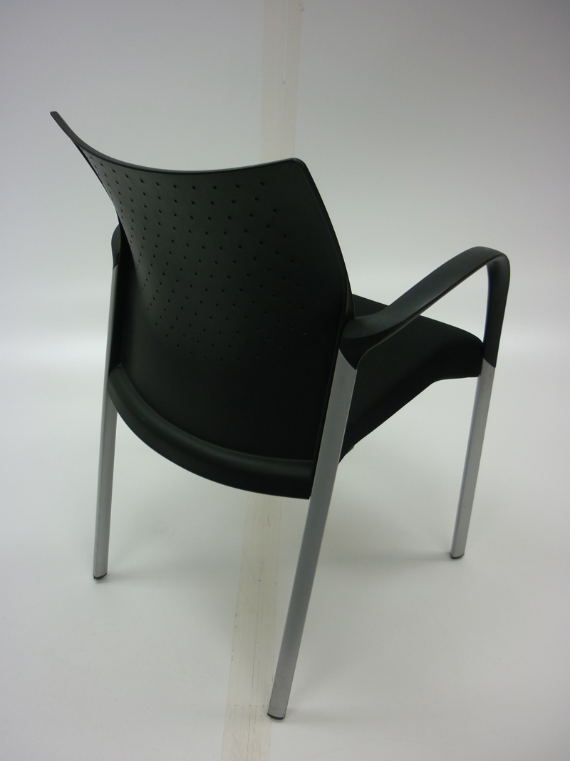 Senator Trillipse black 4 leg meeting chair (CE)