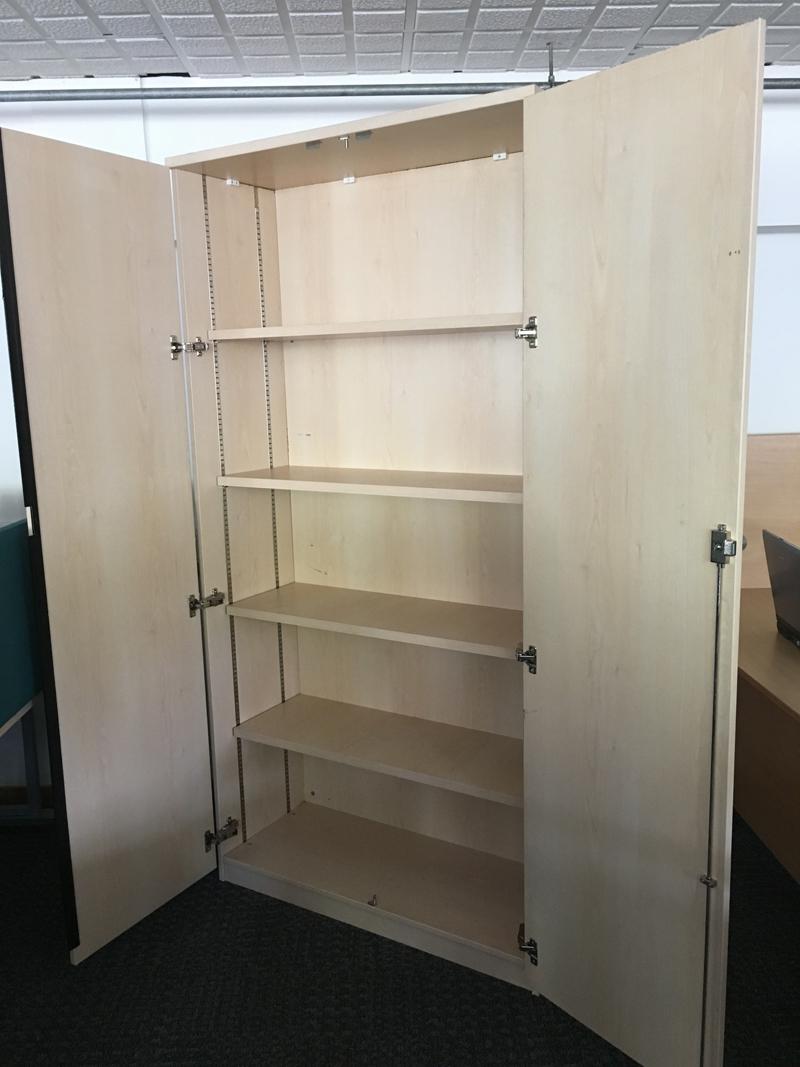 2000mm high FFC maple double door cupboards