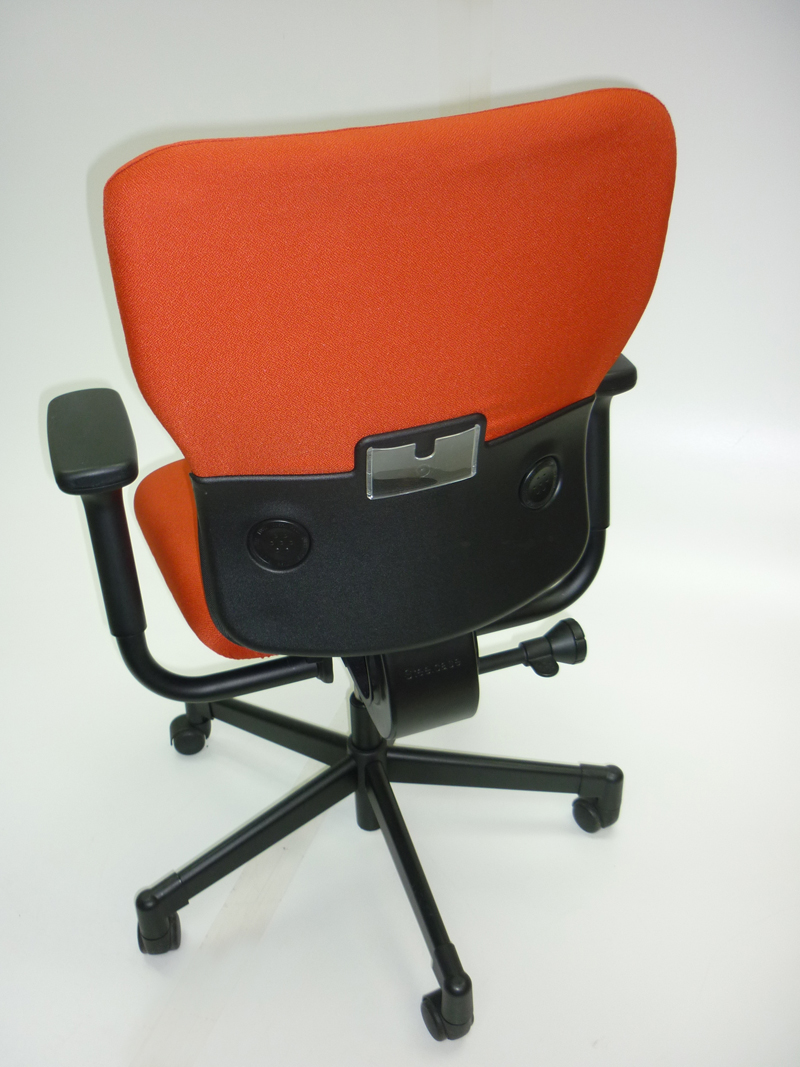 Red/black Steelcase Lets B task chair