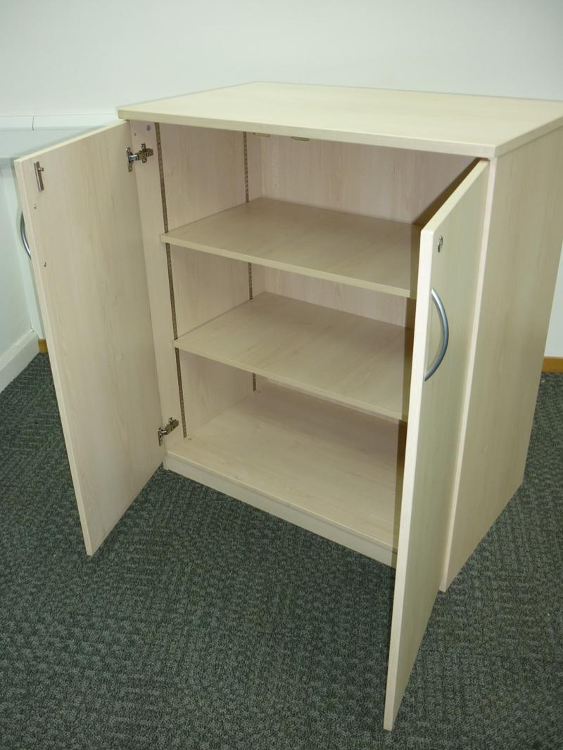 1120mm high FFC maple double door cupboards