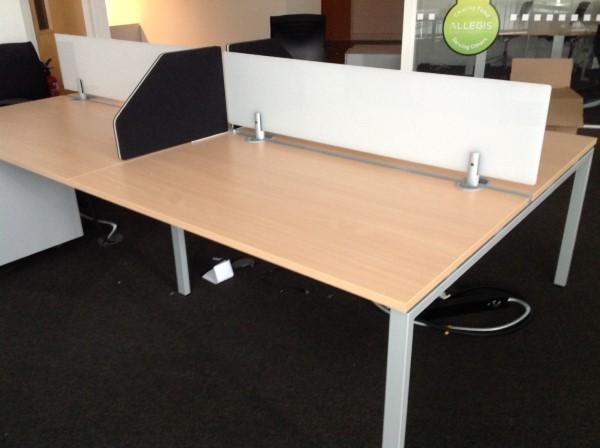1400w x 800d mm Haworth Tibas bench system (CE)