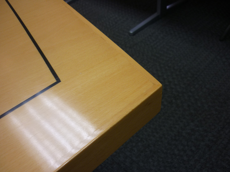 4000x2000/1500mm beech veneer barrel shape boardroom table