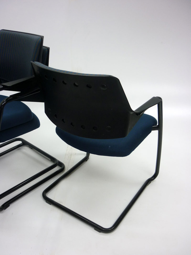 Gisberger blue & grey stacking chairs