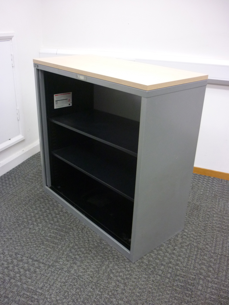1050mm high silver/maple Triumph tambour cupboard