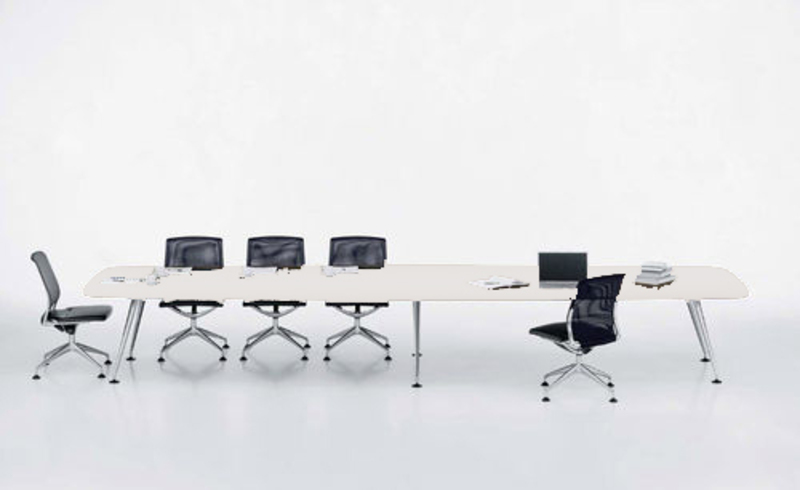 additional images for 5000x1400mm white Vitra MedaMorph boardroom table