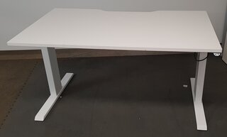 1400mm Electric SitStand White Desks