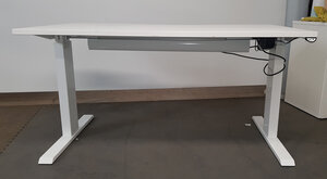 additional images for 1400mm Electric Sit/Stand White Desks