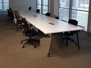 5700x1400mm Herman Miller Abak white table