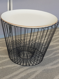 additional images for Wire frame white top coffee tables