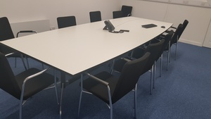 additional images for 3600x1400mm NEW top white table with Vitra legs