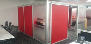 additional images for 4400x4100mm red Orangebox Airea 220 meeting pod