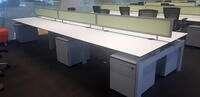 additional images for Techo Platform white 1600mm bench desks