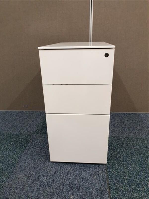 additional images for White slimline metal pedestal