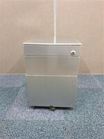 additional images for Grey metal gloss finish pedestal