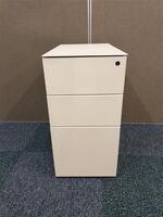 additional images for Cream metal slimline pedestal
