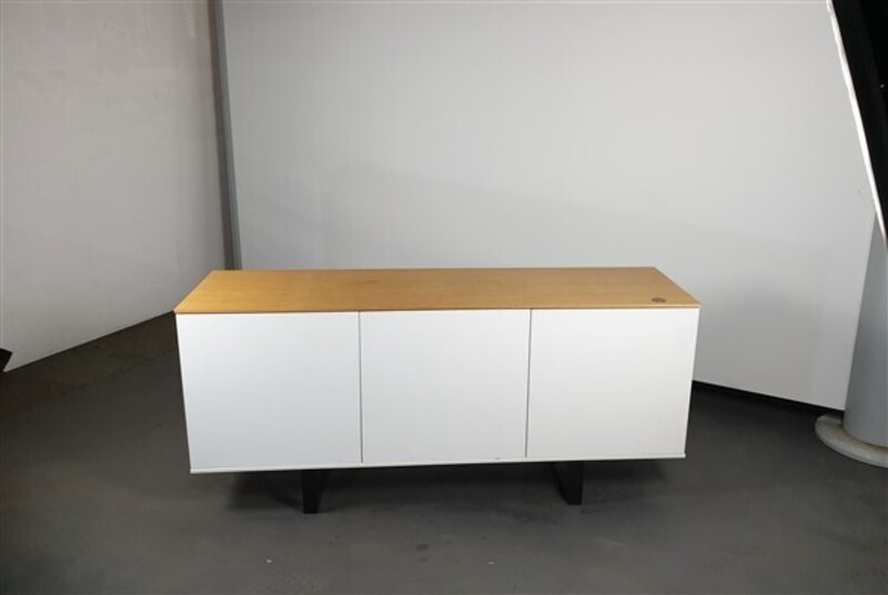 additional images for White Credenza Oak Top