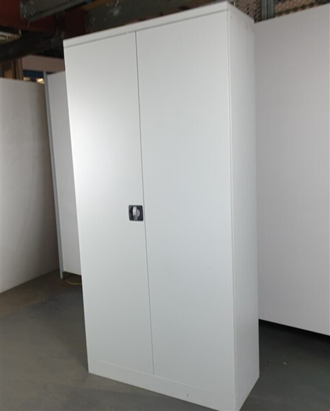 additional images for Light Grey Metal Tall Cupboard