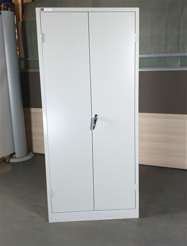 additional images for AJ Grey Metal Tall Cupboard
