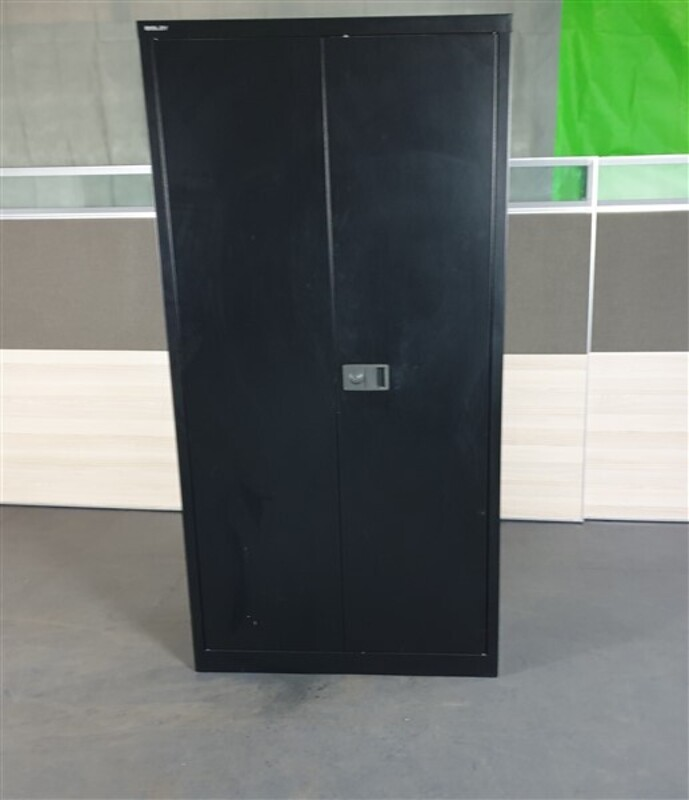 additional images for Bisley Black Metal Tall Cupboard