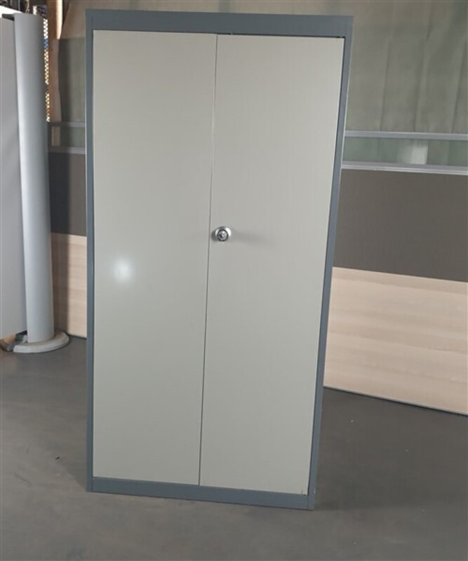 additional images for Tall Cupboard Light Grey Doors Dark Grey Surround