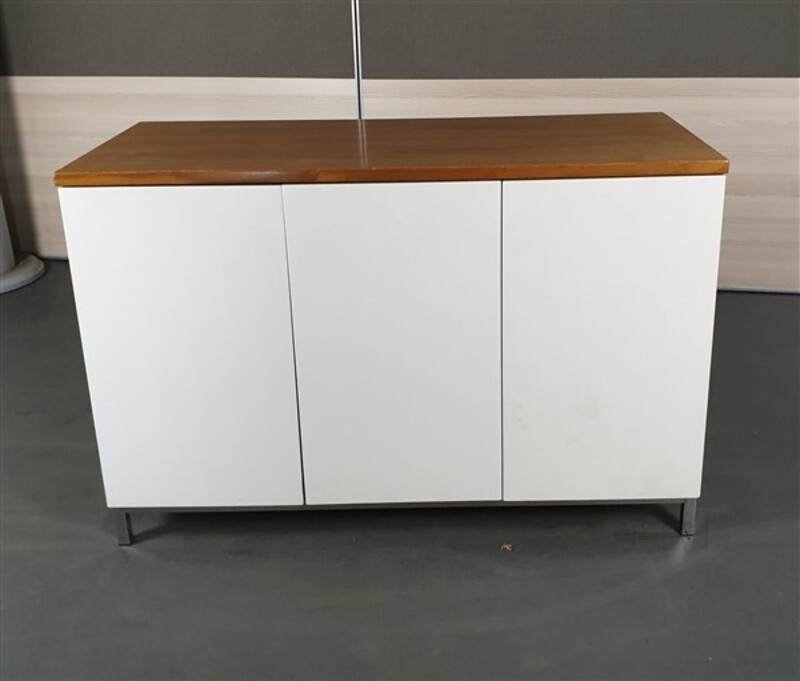 additional images for Walnut 3 White Door Credenza