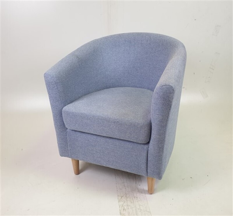 additional images for Light Blue Fabric Tub Chair