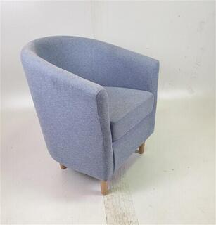 Light Blue Fabric Tub Chair