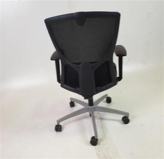 Black Mesh Back Dark Grey Fabric Seat Chair
