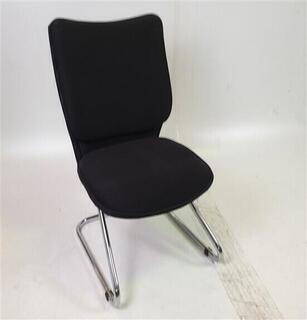 Black FabricMesh Meeting Chair Chrome Legs