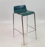 additional images for Green Stool Chrome Legs
