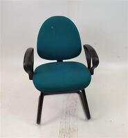 additional images for Green/Aqua Fabric Meeting Chair